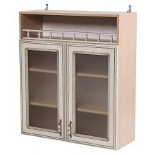 Шкаф навесной с 2 витражными дверками Анжелика