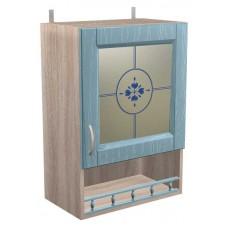 Шкаф навесной витражный Кантри с 1 дверкой