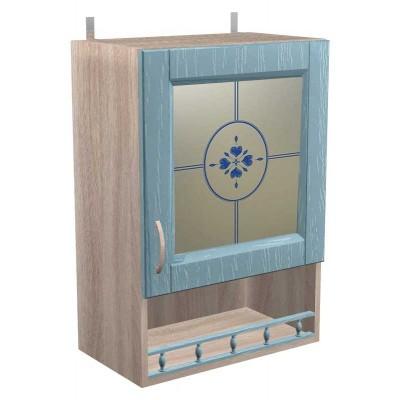 Шкаф навесной витражный с 1 дверкой