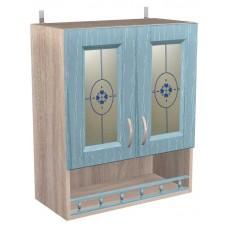 Шкаф навесной с 2 витражными дверками Кантри