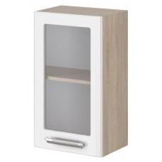 Шкаф навесной с 1 витражной дверкой Агата