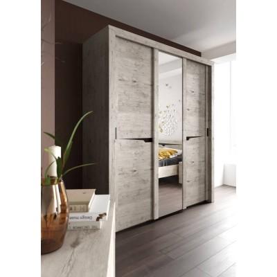 Шкаф трехдверный Соренто с раздвижными дверям