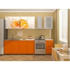 Кухня Апельсин ЛДСП 2.0 с фотопечатью
