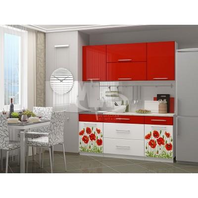 Кухня Маки красные 1800