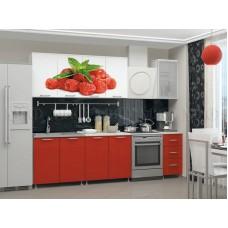 Кухня Малина 2.0 с фотопечатью